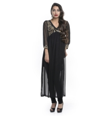 Black Sheer Georgette Kurta
