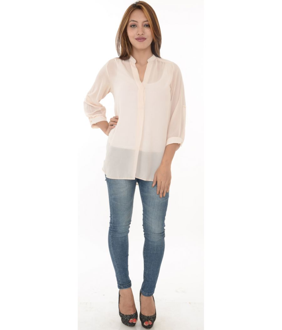 Dorothy Perkins Cream Polyester Shirt