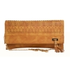 Envie Faux Leather Brown Coloured Laser Cut Sling Bag
