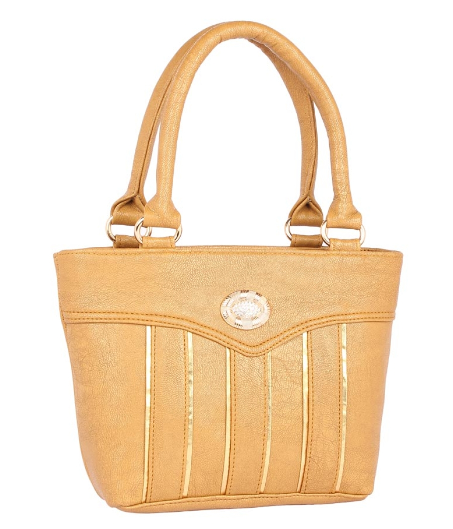 Aliado Faux Leather            Beige Coloured Zipper Closure Handbag