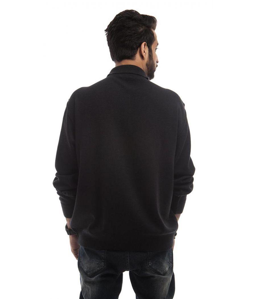 Marks & Spencer Wool Solid Black Full Sleeved Below Waist Sweater