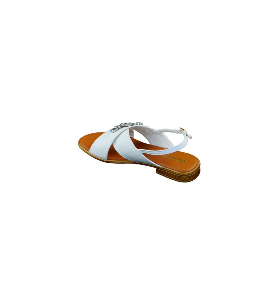 Estatos White Women Casual Sandals