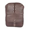 Aliado Faux Leather Coffee Brown   Coloured Zipper Closure Backpack