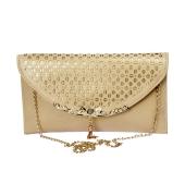 Envie Faux Leather Cream Colour Solid Sling Bag