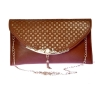 Envie Faux Leather Brown Coloured Embellished Sling Bag