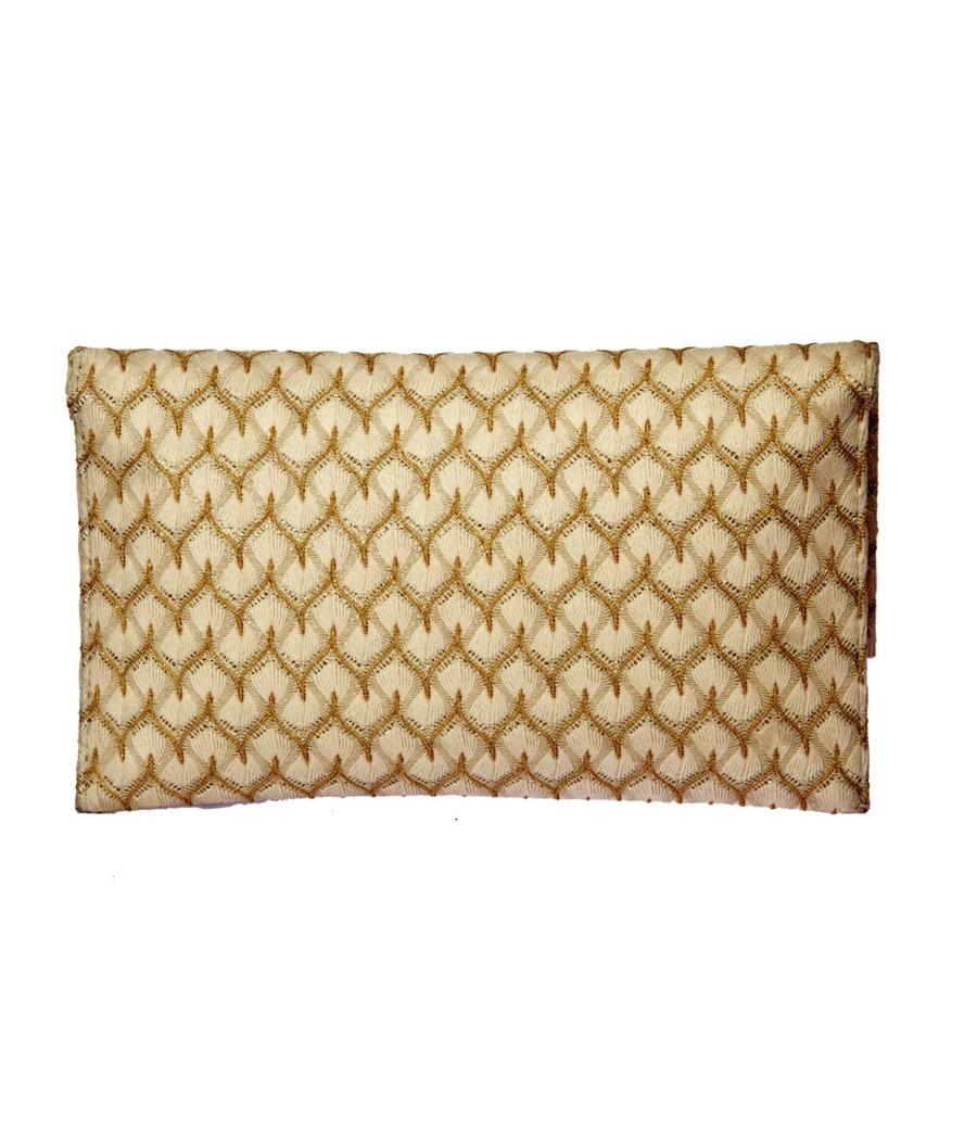 Envie Faux Leather Golden  Embellished Sling Bag