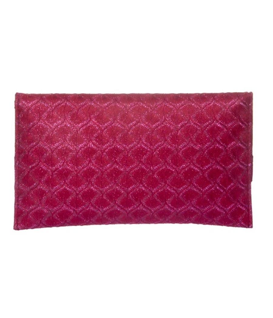 Envie Faux Leather Magenta Magnetic Snap Sling Bag