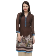 Brown Printed Women Kurti