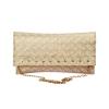 Envie Faux Leather Beige Colour Solid Embellished Sling Bag