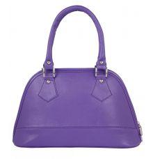 Aliado Faux Leather Purple Coloured Zipper Closure Handbag