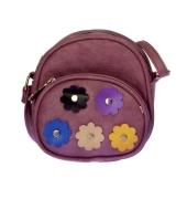 Envie Faux Leather Pink Embellished Zipper Closure Sling Bag