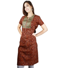 Maroon Colour Cotton Kurta