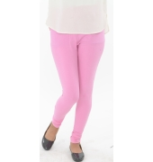 Baby Pink Cotton Lycra Leggings - 700 GSM