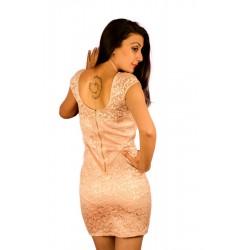 River Island Peach Lace Mini Dress
