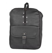 Aliado Faux Leather Black Coloured Zipper Closure Backpack