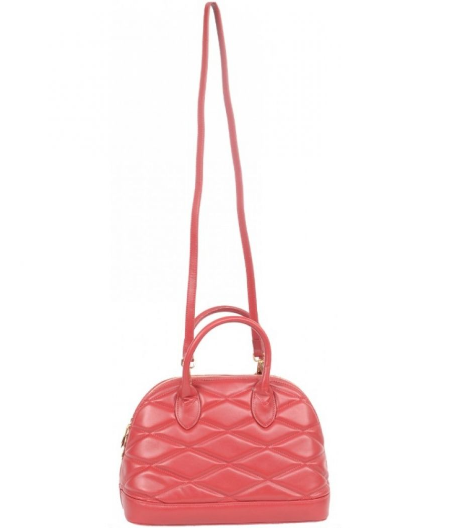 Aliado Synthetic Leather Quilted Red Handbag/Sling Bag