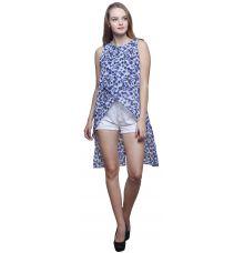 Estance Georgette Floral Print Multicoloured Tunic