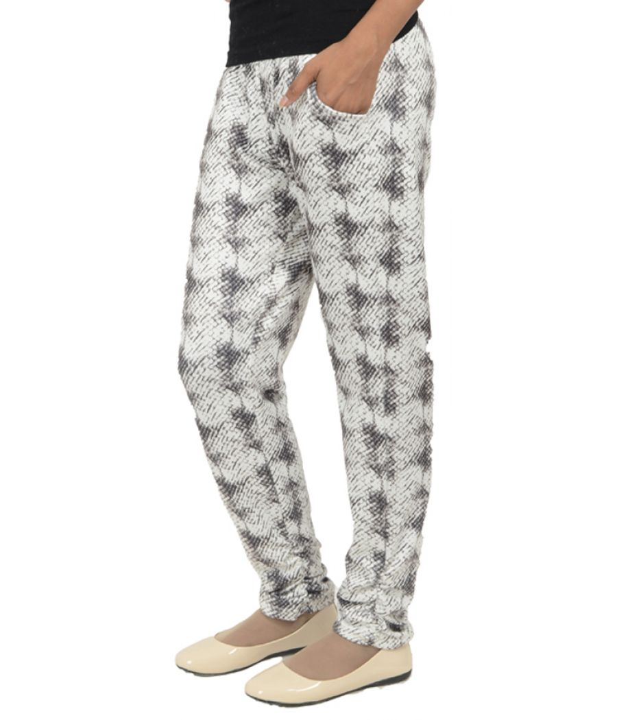Secret Weekend White and Brown Printed Pants