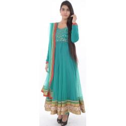 Etashee Certified Persian Green Anarkali Suit