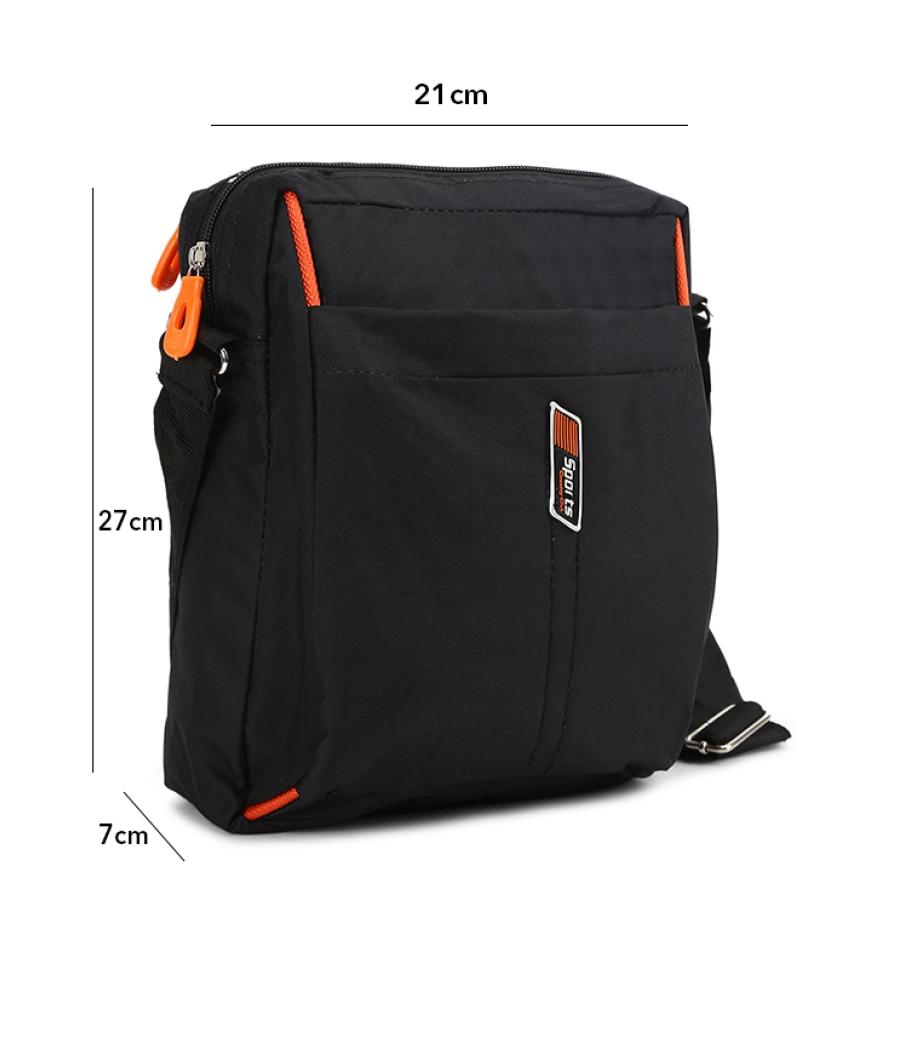 Envie Black Colour Sling Bag for Students