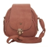 Envie Faux Leather Solid  PeachMagnetic Snap Closure Stylish Sling Bag