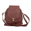 Envie Faux Leather Solid Pink Tuck Lock Closure Sling Bag
