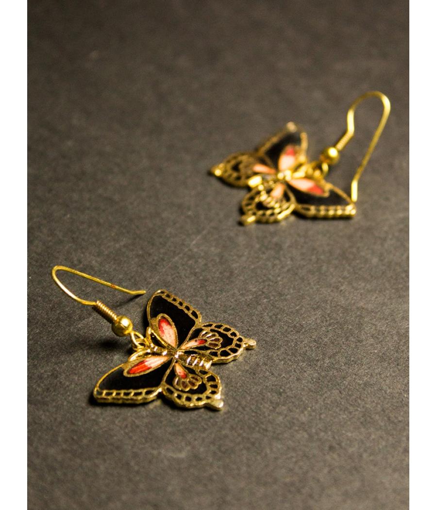 Enamel Butterfly Earring