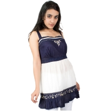 White and Blue Tunic