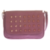 Envie Faux Leather Magenta Magnetic Snap Embellished Sling Bag