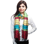 Multi Coloured Modal Silk Stole