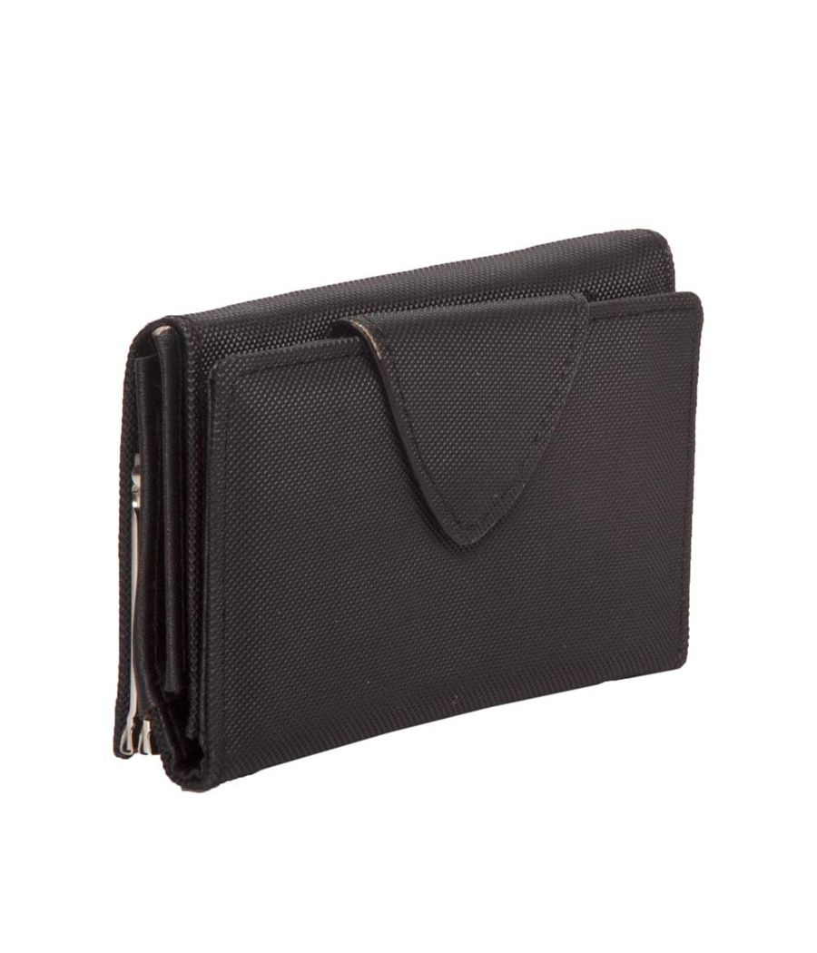 Envie Faux Leather Solid Black Magnetic Snap Minaudiere Style Clutch