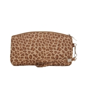 Envie  Brown Printed Faux Leather  cosmetic/utility Bag/pouch