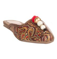 MCS Synthetic Leather Multi Coloured Broad Toe Party/Wedding Flats