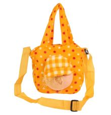 Envie Faux Fur Mustard Coloured Zipper Closure Sling Bag