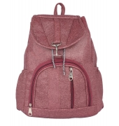 Aliado Faux Leather Magenta Colured Backpack