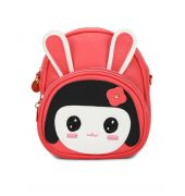 Envie Peach Colour Printed Backpack for School Girls