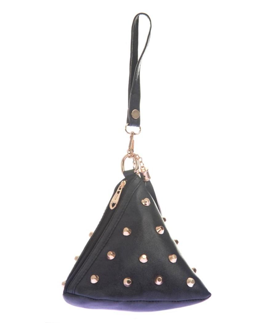 Envie Faux Leather Black Colour Embellished Potli Bag