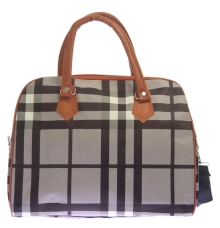 Aliado Faux Leather Printed Black & Grey Magnetic Snap Handbag