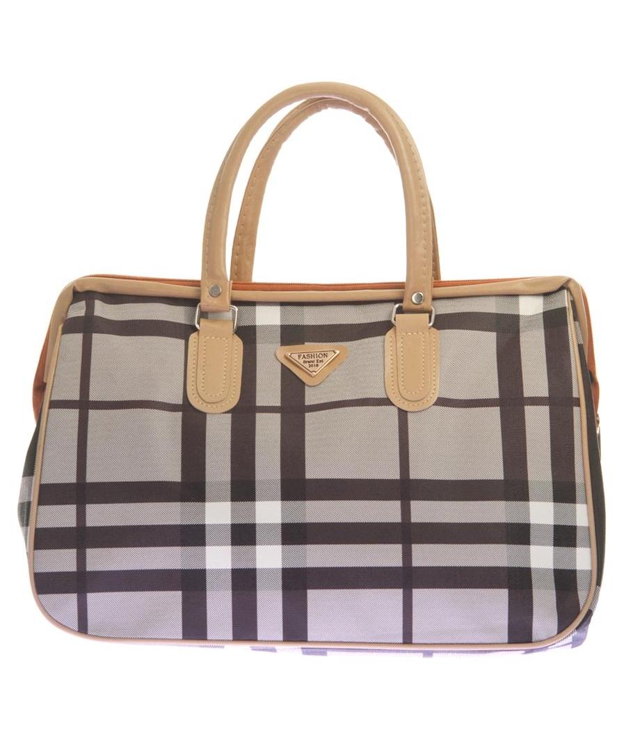 Aliado Faux Leather Printed Grey & Black Zipper Closure Handbag