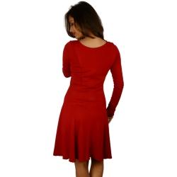 Oasis Red Keyhole Midi Dress