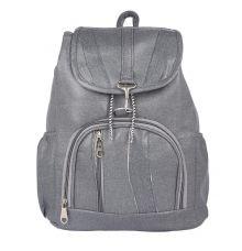 Aliado Faux Leather Grey Coloured Backpack