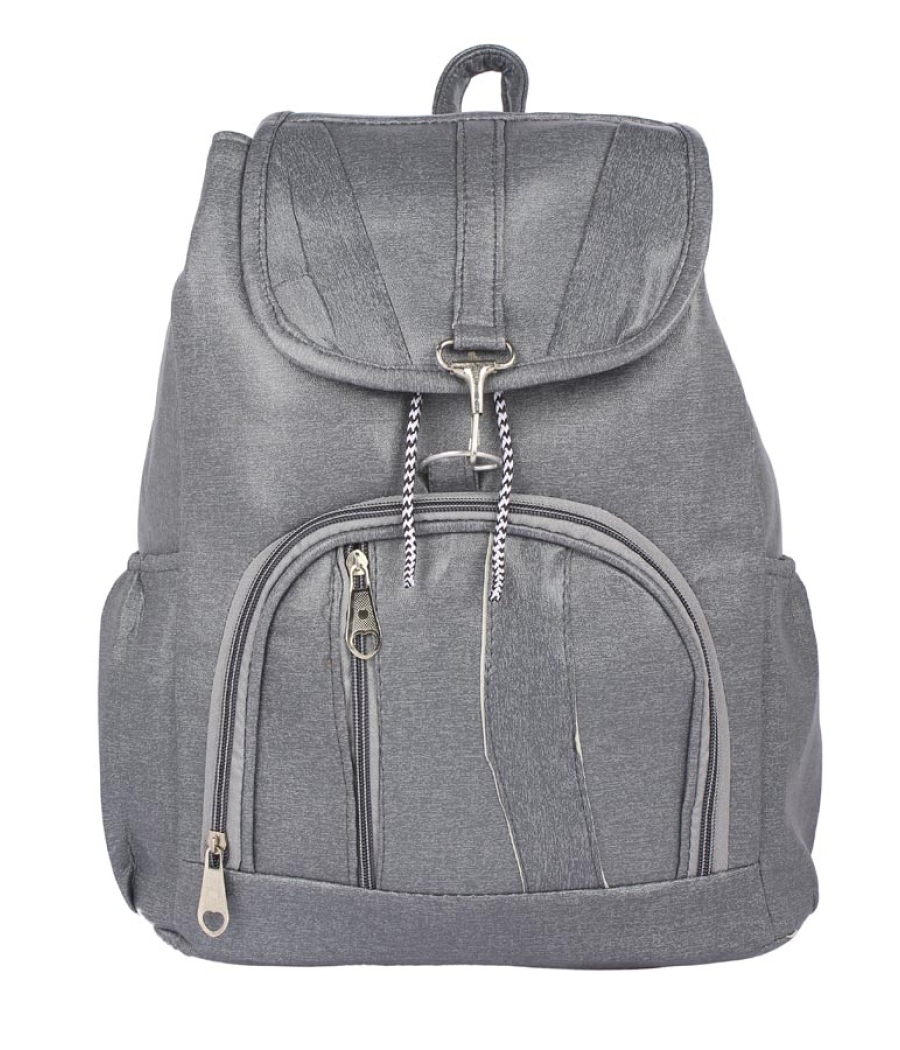 Aliado Faux Leather Grey Coloured Backpack