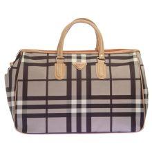 Aliado Faux Leather Printed Black & Grey Zipper Closure Handbag