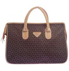 Aliado Faux Leather Printed Coffee Brown & Beige Zipper Closure Handbag