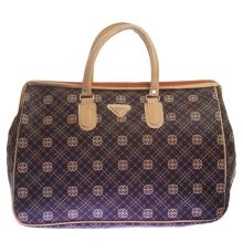 Aliado Faux Leather Coffee Brown & Black Printed Zipper Closure Handbag
