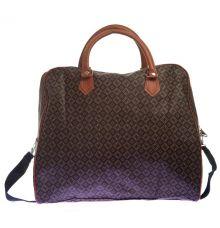 Aliado Faux Leather Printed Black & Brown Zipper Closure Handbag