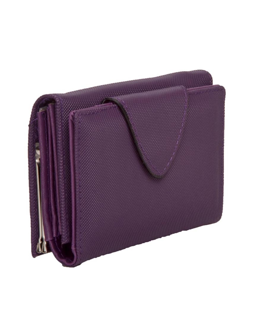 Envie Faux Leather Solid Purple Magnetic Strap Clutch for Women