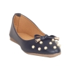 MCS Synthetic Leather Blue Coloured Broad Toe Party/Wedding Flats