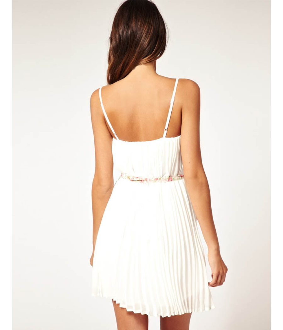 Rare White Pleated Long Top