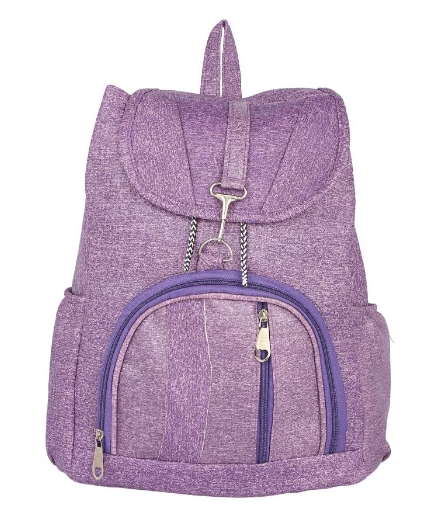 Aliado Faux Leather Purple  Coloured Backpack